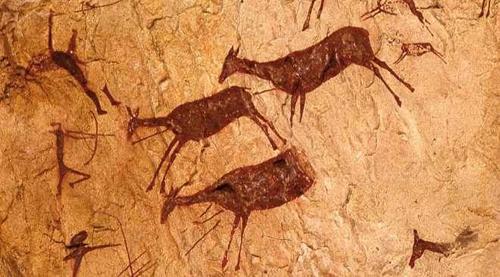 """""""Escena de caza"""" Cueva de los caballos de La Valltorta, Tírig, Castellón"""