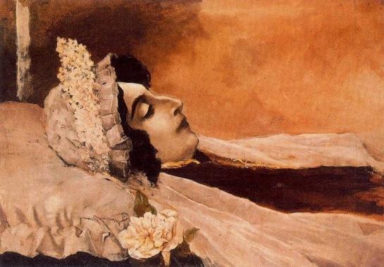 Ovidio Murguia - Rosalia de Castro yacente (1885)
