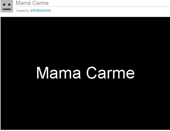 Mamá Carme, Ana B.